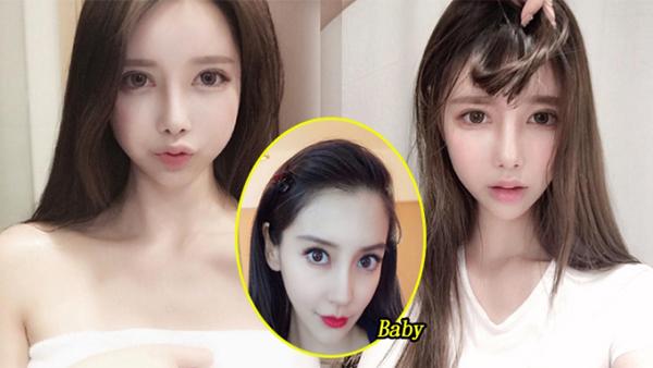 Baek Si Young gây sốt trên cộng đồng mạng Hàn Quốc nhờ khuôn mặt rất giống với nữ diễn viên Angelababy.