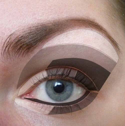 Chiêu 2: Thoa phấn mắt theo quy tắc đậm - nhạt