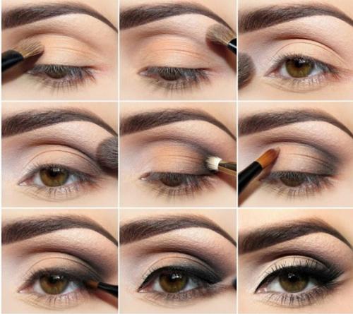 Chiêu 4: Tán phấn mắt sáng màu ở dưới cung lông mày, tạo cảm giác góc mắt rộng hơn.
