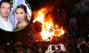 Hà Anh kể lại sự cố cháy sân khấu sự kiện 'Kong: Skull Island'