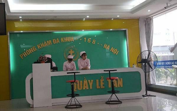 Phòng khám đa khoa 168 Hà Nội.