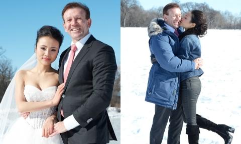 Ảnh cưới giữa trời -30 độ của cô gái Việt và triệu phú Canada