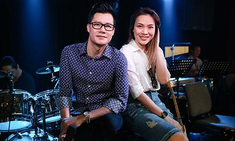 Mỹ Tâm trẻ trung đi tập hát cùng Quang Dũng