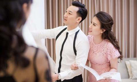 MC Thành Trung và vợ 9X đi thử váy cưới