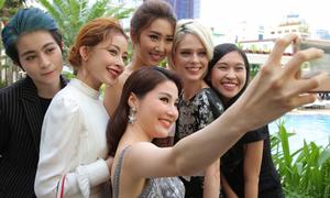 Chi Pu, Diễm My 9X hội ngộ siêu mẫu quốc tế Coco Rocha