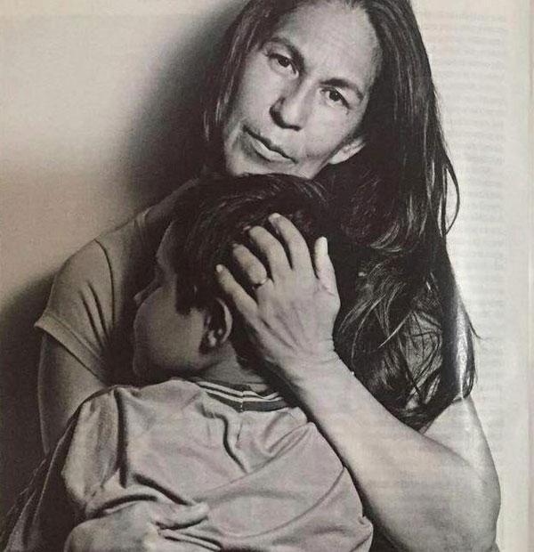 Bà Sonia và cháu ngoại Bruninho. Ảnh