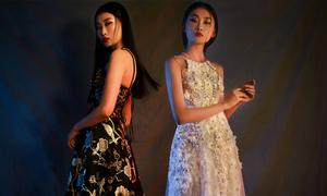 Váy dạ tiệc tôn bờ vai mong manh