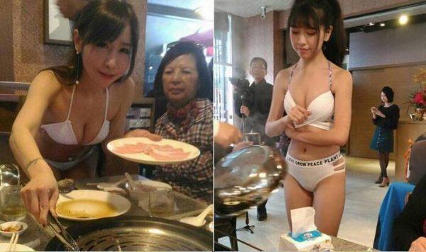 nha-hang-dai-loan-thue-phuc-vu-mac-bikini-de-hut-khach-1