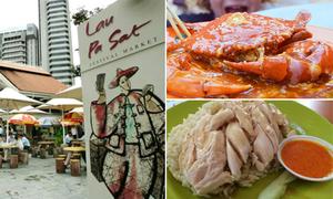 Lạc vào khu ăn uống Lau Pa Sat ở Singapore không muốn về