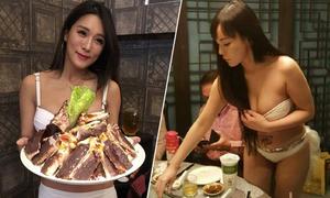 Nhà hàng Đài Loan thuê phục vụ mặc bikini để hút khách
