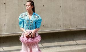 Sella Trương lăng xê trang phục của nhà thiết kế Việt tại Seoul