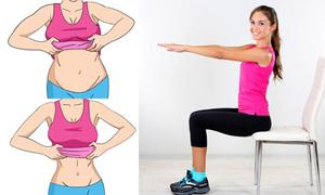 4 động tác với ghế giúp bụng phẳng lì sau một tháng
