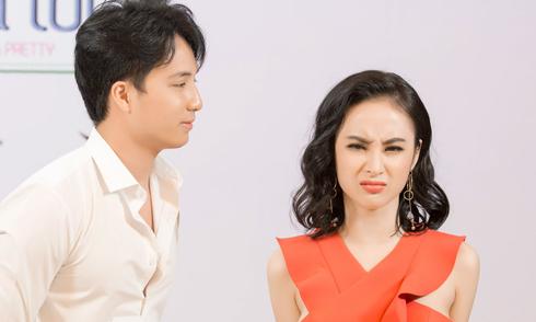 Bạn trai Sĩ Thanh lúng túng khi diễn cùng Angela Phương Trinh