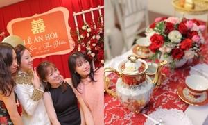 Đãi khách quý trong lễ ăn hỏi với tiệc trà chiều kiểu Anh