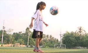 Thần đồng bóng đá Vĩnh Long ước mơ được khoác áo tuyển nữ Việt Nam