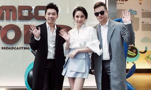 Angela Phương Trinh và hai đạo diễn Việt thăm đài MBC Hàn Quốc
