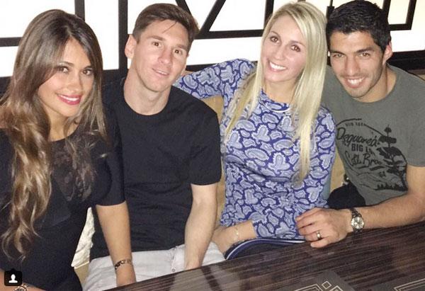Messi và Suarez thân thiết
