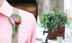 Trang trí tiệc cưới 'không đụng hàng' với cây gia vị trong vườn