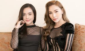 Quỳnh Thư mặc sexy, đi sự kiện cùng cháu gái xinh đẹp