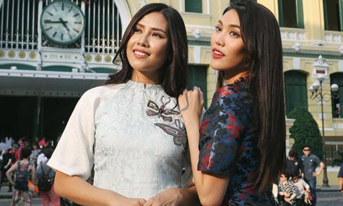 Nguyễn Thị Loan, Lan Khuê mặc áo dài đi dạo ở trung tâm Sài Gòn