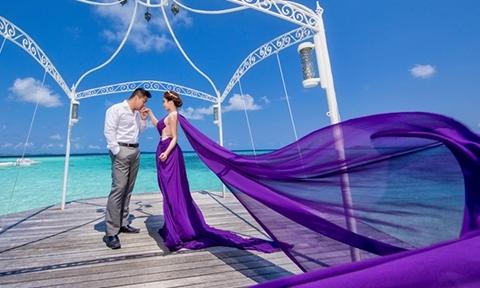 Cặp đôi Việt kiều 'rút ví' chi 20.000 USD cho bộ ảnh cưới ở Maldives