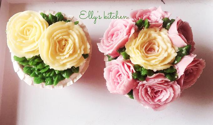 Cô cũng cập nhật một số kỹ năng nấu nướng mới nổi như bắt hoa bằng kem bơ, khiến