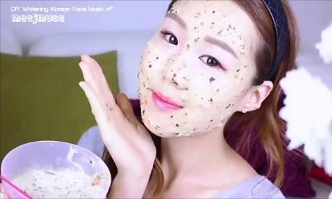 Học phụ nữ Hàn Quốc làm mặt nạ rong biển cho da trắng mịn