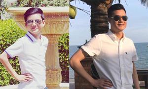 Bảo Nam tạo dáng ngầu, ngày càng giống bố Quang Dũng