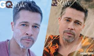 Brad Pitt nặng nỗi u sầu khi chụp hình tạp chí