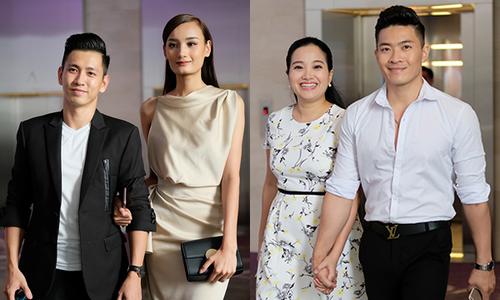 Vợ chồng Lê Thúy, Hồng Phượng tình tứ sóng đôi đi sự kiện