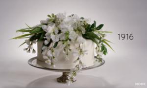 Sự thay đổi 'chóng mặt' của bánh cưới trong 100 năm