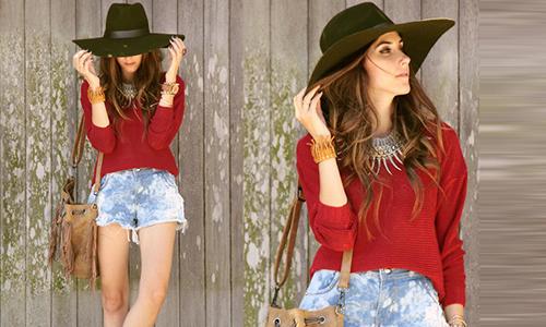 Mix quần short jeans theo 6 phong cách đa dạng