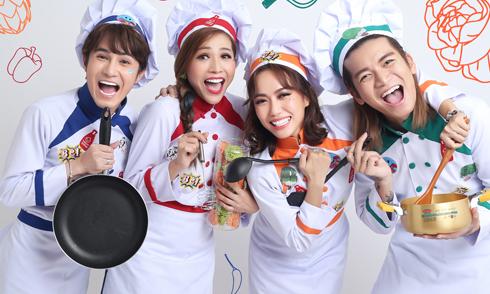 Huỳnh Lập, Diệu Nhi, Khả Như, BB Trần hợp thành 'Bộ tứ ẩm thực vui nhộn'