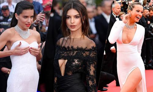 Dàn người đẹp đua nhau khoe ngực trên thảm đỏ Cannes ngày thứ hai