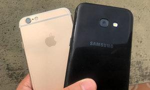 Galaxy A5 2017 và iPhone 6 đọ camera