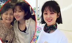 Jang Nara khoe mặt mộc xinh xắn bên mẹ đẻ