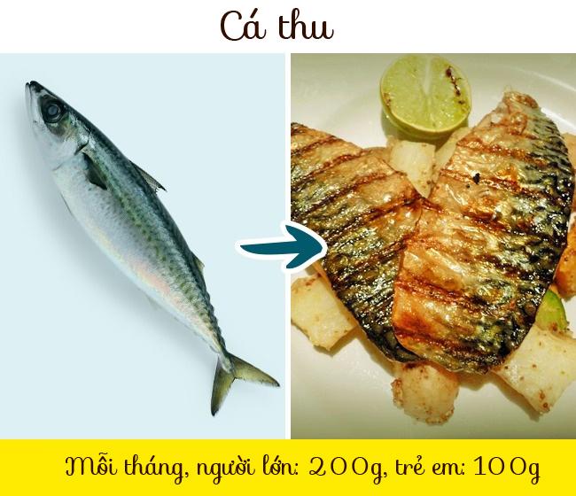 Cá thu chứa hàm lượng thủy ngân nhất định, không bị đào thải trong cơ thể người, gây ra nhiều bệnh khác nhau. Mỗi tháng người lớn chỉ nên ăn 200g còn trẻ em là 100g. Cá thu Đại Tây Dương là loại ít nguy hiểm nhất, bạn có thể ăn nếu muốn.