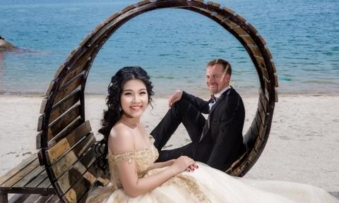 Ảnh cưới của tiếp viên hàng không Sài thành và chú rể người Đức kém 5 tuổi