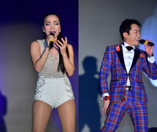 Chương trình có sự góp mặt của ca sĩ Hồng Ngọc (trái) và Đoan Hồ.