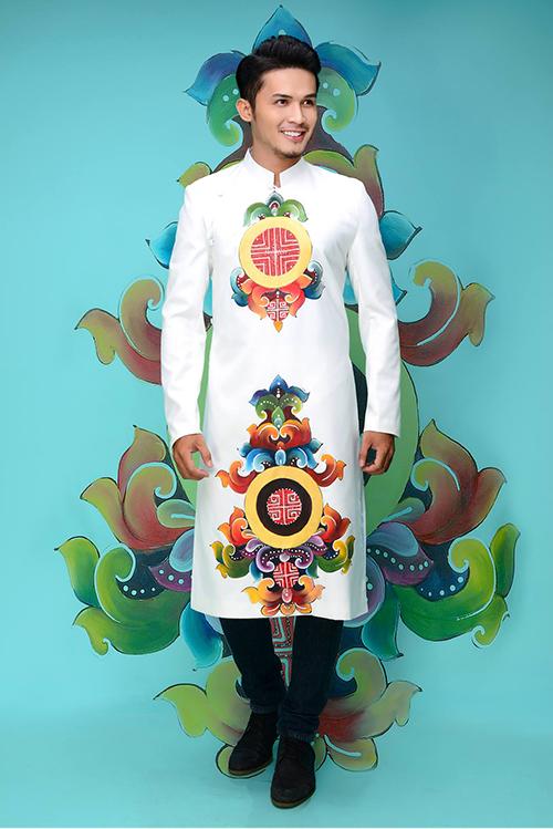 Cách tạo họa tiết ấn tượng trên áo dài cưới mang đến phong cách mới mẻ mà gợi nhớ nét truyền thống trong trang phục cưới của các chàng.