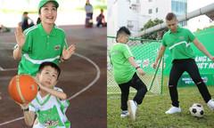Ốc Thanh Vân, Nam Khánh chơi thể thao cùng con