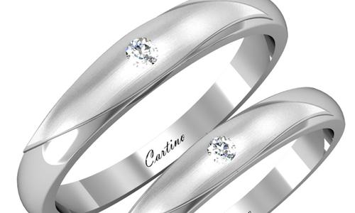 Nhẫn cưới platinum hướng đến sự sang trọng cho cặp đôi