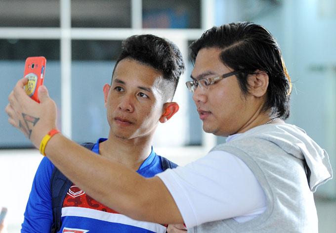 Hồng Duy là một trong 5 cầu thủ HAGL tập trung ở đợt này.
