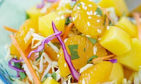 Salad cam xoài thích mắt đã miệng