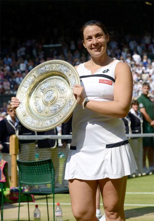 Tay vợt người Pháp mũm mĩm khi vô địch Wimbledon 2013.