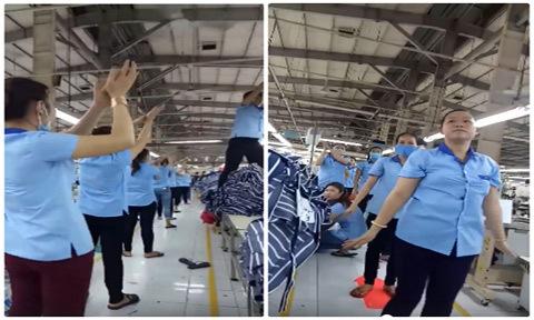 Công nhân ở TP HCM nhảy tưng bừng giữa giờ giải lao