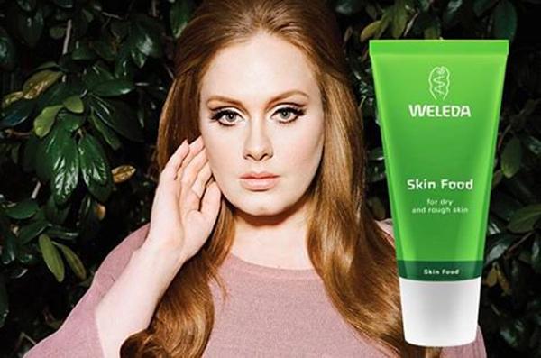 Adele cũng không thể sống thiếu Weleda Skin Food.