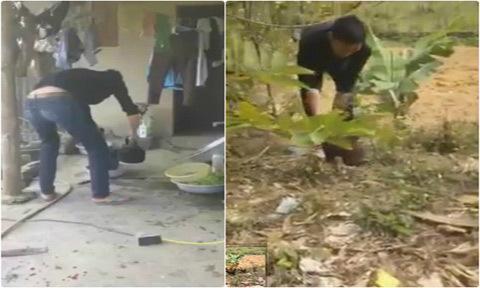 Video 'nam thanh niên loay hoay làm thịt gà' gây cười