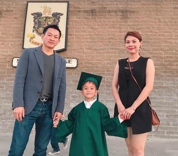 Thanh Thảo chia sẻ hạnh phúc trong ngày tốt nghiệp mẫu giáo của con trai.