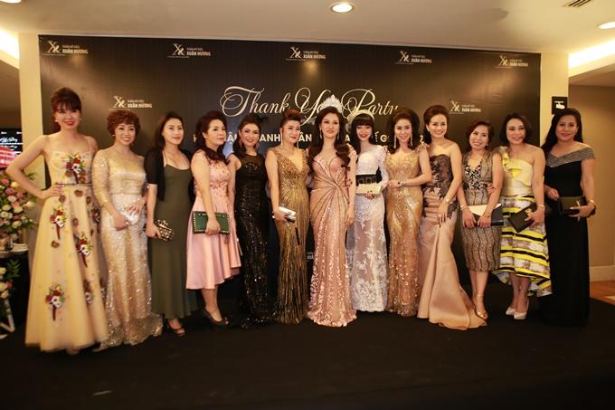 Dàn doanh nhân đến chung vui với Tân Hoa hậu Doanh nhân Việt Nam Thế giới 2017.